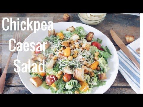 Chickpea Caesar Salad   Creamy Vegan Caesar Dressing
