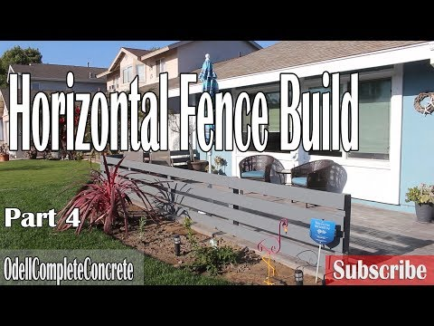 How to Build a Horizontal Fence & Gate, Front-yard Remodel part 4