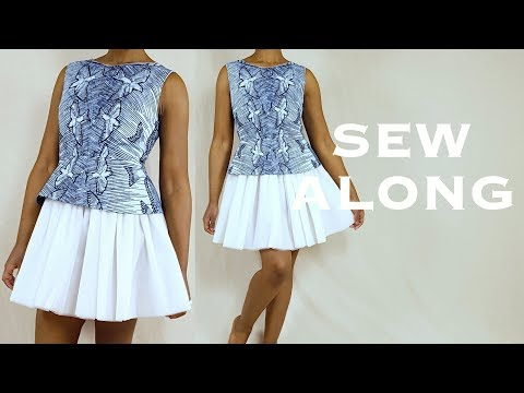 Making a Tulle Peplum Dress (Sew Along)