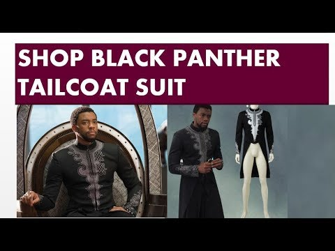 Africa Blooms | Shop Black Panther Suit Tailcoat Jacket | TailorMade to Fit | www.AfricaBloom.com