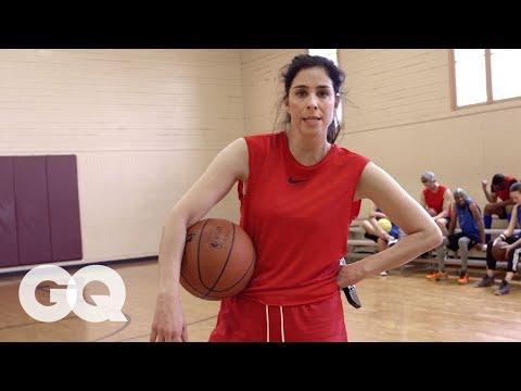 Sarah Silverman Plays Pickup Basketball (And is a Terrible Teammate)   GQ