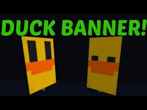 MINECRAFT - How To Craft a Duck Banner!! (Easy)