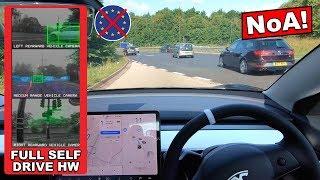 Download Navigate On Autopilot AMAZING & NOT READY! - EU Law BAN Tesla HW3 FSD Computer Part 1/2 Video