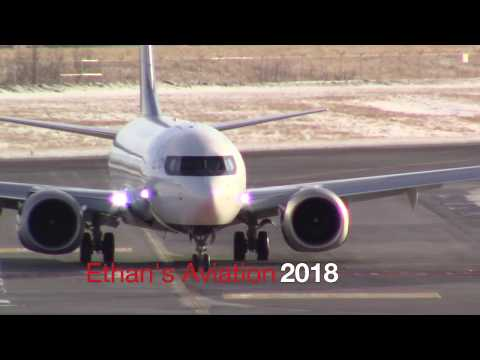 Air Canada Boeing 737 MAX 8 (C-FSCY) Smooth Landing and Taxi at Calgary International