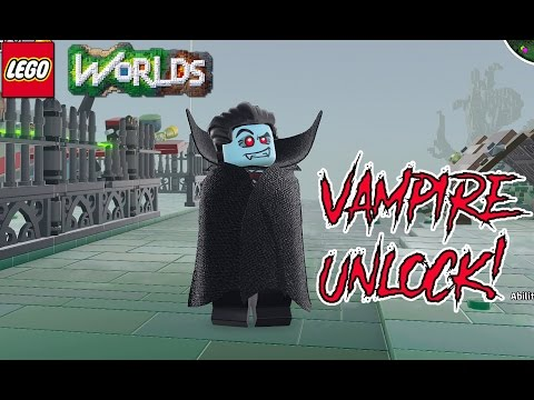 LEGO Worlds How to Unlock the Vampire With Free Roam Gameplay