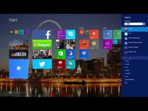 Windows 8.1 Search Charm