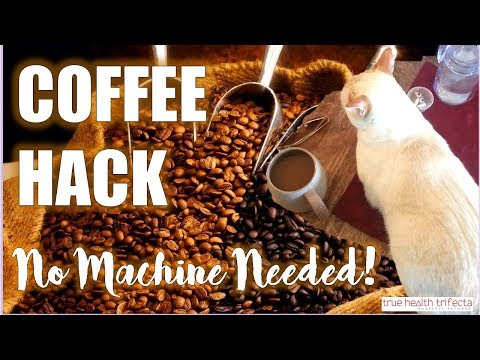 How to make Coffee WITHOUT a Coffee Maker! (Kitchen Hack) - Cat Lady Fitness