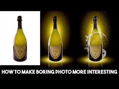 How to make boring photo more interesting | Photoshop tutorial.