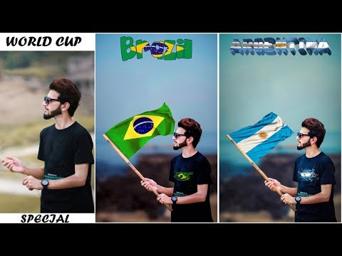 Photoshop Football Worldcup Special Photo Editing    How To Manipulate a Photo in Photoshop