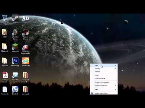 How to Adjust the Sizes of the Desktop Icons in Vista : Windows Vista & Taskbars
