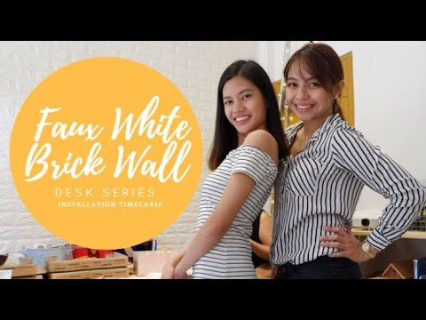 DIY Faux Brick Wall Installation Video