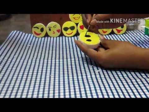 DIY: 😍😘Making smiley with Thermocol😍😘