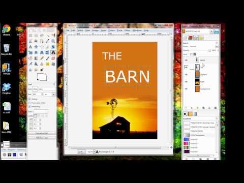 GIMP Tutorial_Making an eBook Cover 3-Text and Flattening.avi
