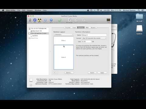 How to Partition a Flash Drive On a Mac