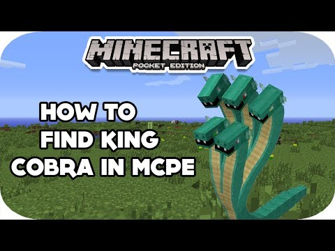 HOW TO FIND SNAKES IN MINECRAFT POCKET EDITION | NEW MOB UPDATE