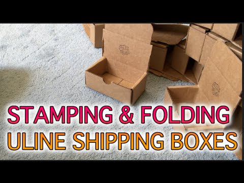BEHIND THE SCENES : Stamping & Folding Uline Shipping Boxes