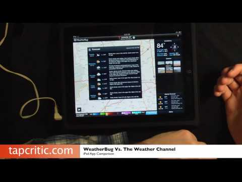 Weatherbug VS. The Weather Channel - iPad App Comparison