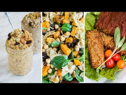EASY FALL INSPIRED MEAL PREP IDEAS 🍂 VEGAN & DELICIOUS