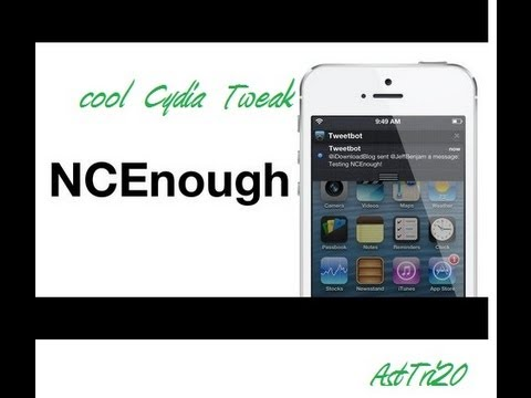Cydia Tweak :-NcEnough For iPhone 5/4s/4/3Gs On Running iOS 6.0/6.0.1/6.1.1/6.1.2/6.1.3