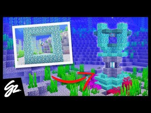 5 Minecraft Conduit Designs (Minecraft 1.13)