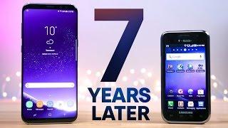 Samsung Galaxy S8 vs First Galaxy S! 7 Year Comparison