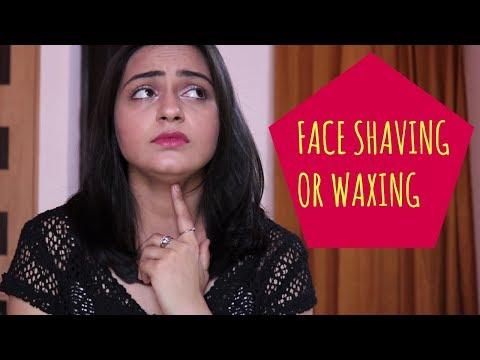 FACE SHAVING OR WAXING | REMOVE FACIAL HAIR