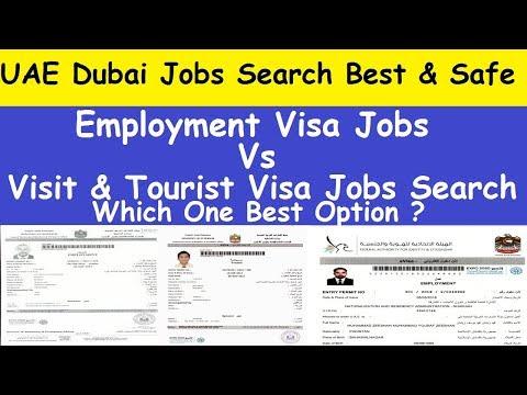 UAE Dubai Jobs Search Visa l Dubai Employment Visa vs Visit Visa l How to Get Employment Visa