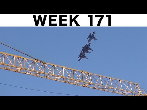 One-week construction time-lapse: Week 171: With guest appearance by Blue Angels at end of the week