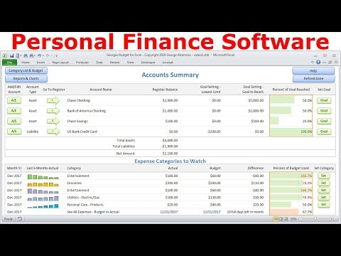 Top Budget Software, Personal Finance Software, Simple Budget Spreadsheet, Excel Checkbook Register