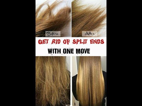 Get rid of split-ends without cutting your hair.