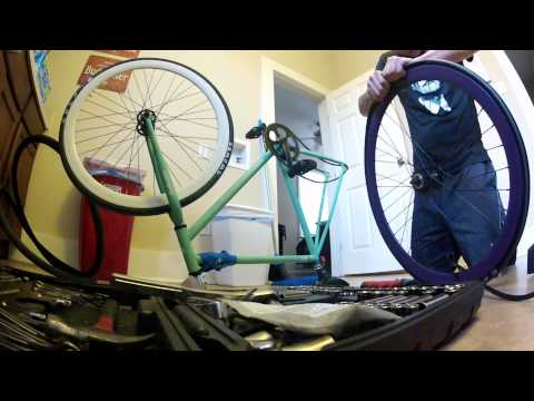 Fixie tire change - Serfas Seca