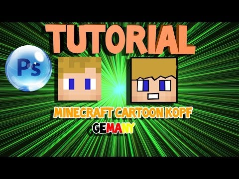 Minecraft Cartoon Kopf Machen Mit PhotoShop German
