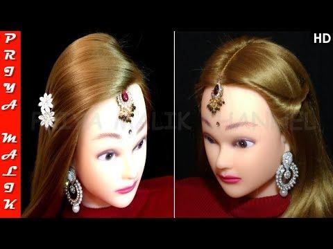 2 Easy Hairstyles for Wedding | Hairstyle with Maang Tikka for Medium or Long Hair | Priya Malik