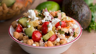 Avocado Chickpea Salad with Chili Lime Dressing