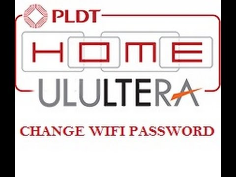 how to change pldt homebro ultera wifi password - tutorial