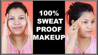 गर्मी में कैसे करें पार्टी मेकअप / 100% SWEAT PROOF MAKEUP कैसे करे IN HINDI