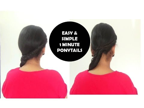 ONE MINUTE PONYTAILS | Hairstyle tutorial |StarNaturalBeauties