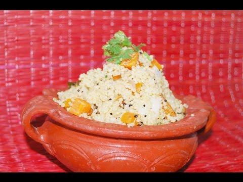 Thinai (Foxtail millet) திணை உப்புமா Upma  – Pressure cook method