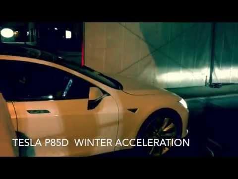 P85D Tesla in Canada & Snow