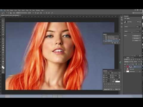Photoshop CS5 + CS6 | How to change hair colour