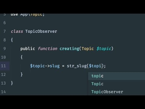 DRYing up code with Eloquent Model Observers: Solution 3: Model observer classes (4/4)