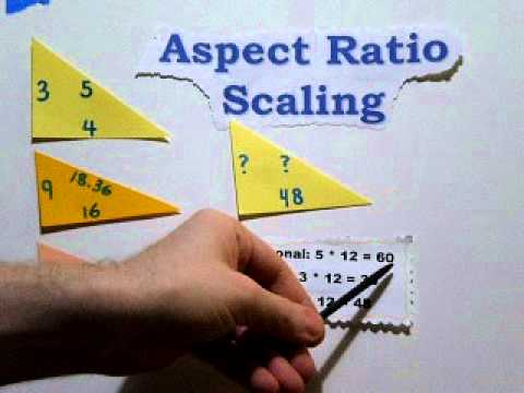 Image Size Calculations using Aspect Ratio Scaling