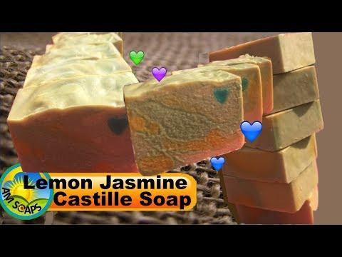 Making Buttermilk Lemon Jasmine Castille Soap
