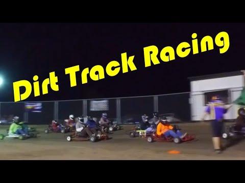 Dirt Track Street Go-Kart Races Highligts