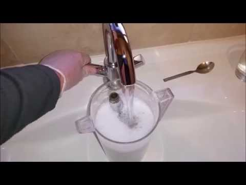 How to clean a shower head and taps - remove limescale