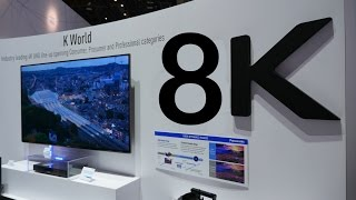 """8K TVs CES 2015!!! 85"""" 98"""" & 110"""" 8K TVs!!!"""