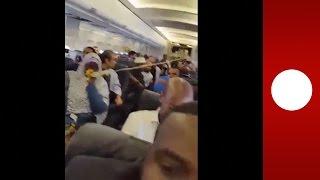 Terrifying footage: Fatal, mid-air explosion blasts hole in Somalian plane