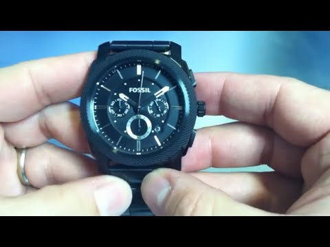 Fossil Black Ion Plated Chronograph Watch FS4552