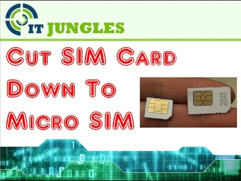 How to Cut Standard SIM Card to Micro SIM Using Scissor