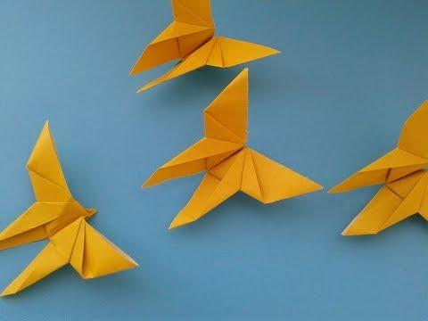 How to Make an Origami Butterfly оригами бабочка